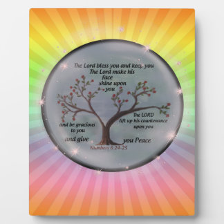 Numbers 6:24-26 Lord Bless You and Keep You Peace Plaque