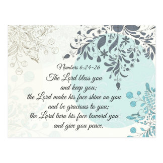 Numbers 6 24-26 The Lord bless you and keep you Postcard