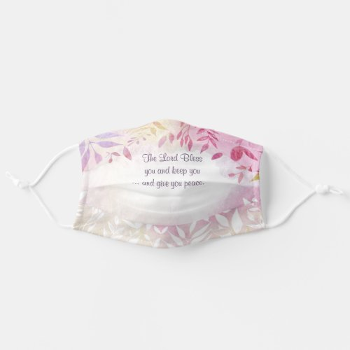 Numbers 62426 The Lord Bless You Bible Verse Cloth Face Mask