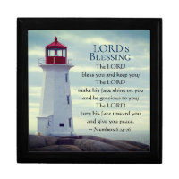 Numbers 6 24-26 The Lord Bless You, Lighthouse Gift Box