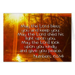 NUMBERS 6:24 BIBLE VERSE - MAY THE LORD BLESS YOU GREETING CARDS