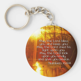 NUMBERS 6:24 BIBLE VERSE - MAY THE LORD BLESS YOU KEYCHAIN