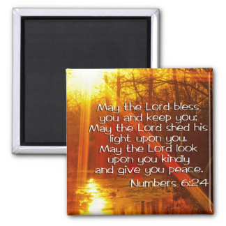NUMBERS 6:24 BIBLE VERSE - MAY THE LORD BLESS YOU REFRIGERATOR MAGNETS