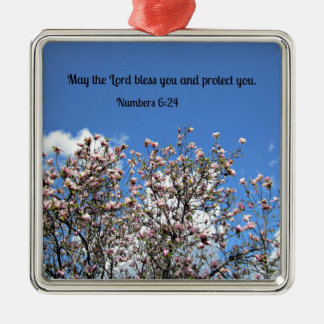 Numbers 6:24 May the Lord bless you.... Metal Ornament
