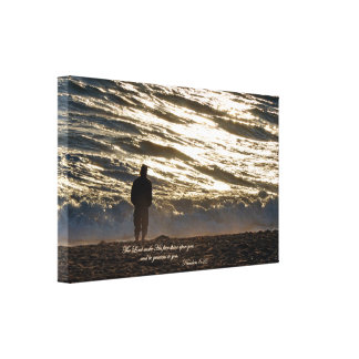 Numbers 6:25 The Lord make His face shine upon you Canvas Print