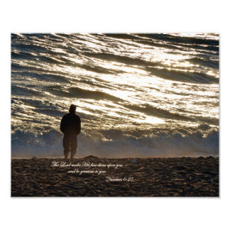 Numbers 6:25 The Lord make His face shine upon you Photo Print
