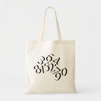 Numbers Budget Tote Bag