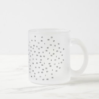 Numbers (+black/s) Frosted mug