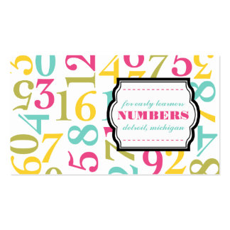 Numbers Business Cards