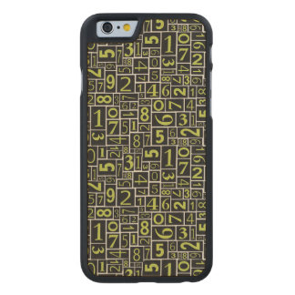 Numbers Carved® Maple iPhone 6 Case