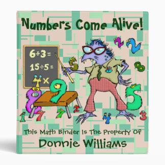 Numbers Come Alive! Vinyl Binder