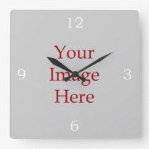 Numbers Create Your Own Square Wall Clock