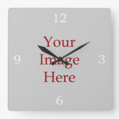 Numbers Create Your Own Square Wall Clock at Zazzle