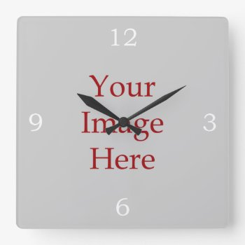 Numbers Create Your Own Square Wall Clock by Ladiebug at Zazzle