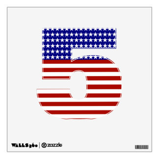 Numbers Decals - Patriotic Red White & Blue