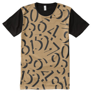 Numbers Design with your background color. All-Over-Print T-Shirt
