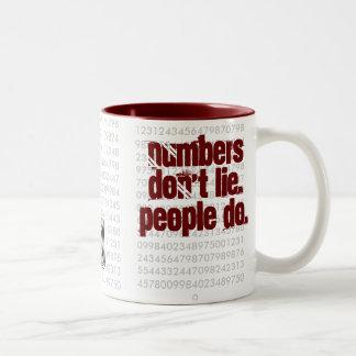 Numbers dont lie. People do !! Two-Tone Coffee Mug