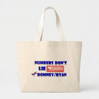 Numbers Don't Lie Unlike Romney/Ryan Tote Bags