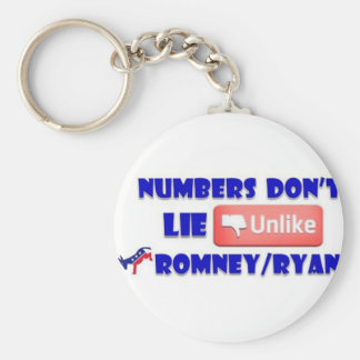 Numbers Don't Lie Unlike Romney/Ryan Keychain