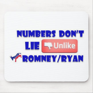 Numbers Don't Lie Unlike Romney/Ryan Mouse Pad