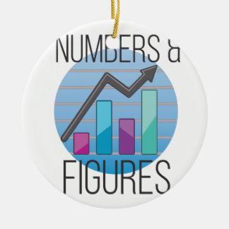 Numbers & Figures Ceramic Ornament