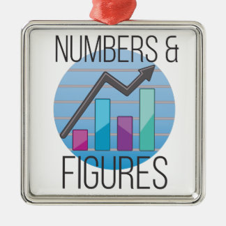 Numbers & Figures Metal Ornament
