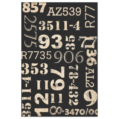 Numbers Furniture Decoupage Paper