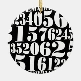 Numbers gift christmas tree ornament