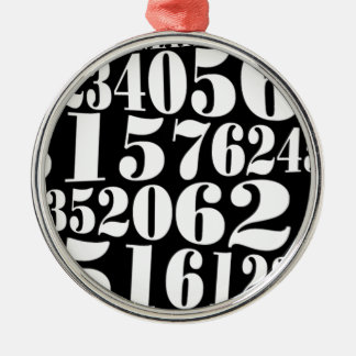 Numbers' gift round metal christmas ornament