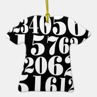 Numbers gift christmas tree ornaments