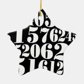 Numbers' gift Double-Sided star ceramic christmas ornament