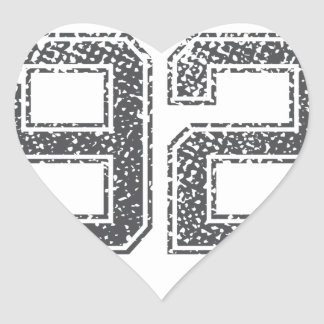Numbers Gray_92.png Heart Sticker