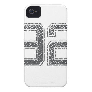 Numbers Gray_92.png iPhone 4 Case
