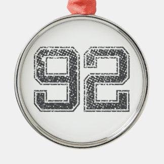 Numbers Gray_92.png Metal Ornament
