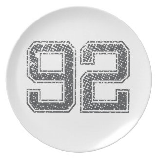 Numbers Gray_92.png Party Plates