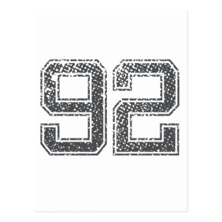Numbers Gray_92.png Postcard