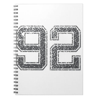 Numbers Gray_92.png Spiral Note Books