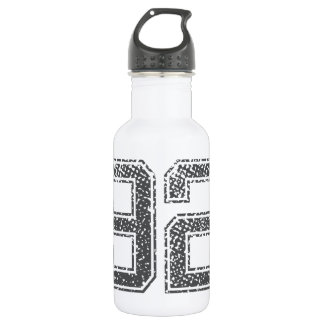 Numbers Gray_92.png Stainless Steel Water Bottle