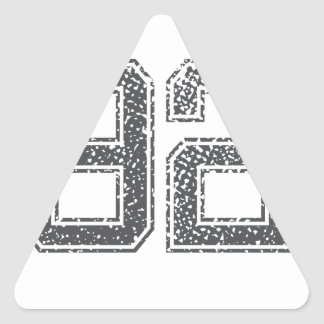 Numbers Gray_92.png Triangle Sticker