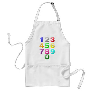 Numbers Image Adult Apron