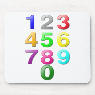 Numbers Image Mouse Pad