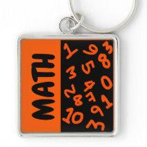 Numbers math key chain