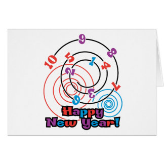 Numbers New Year Card