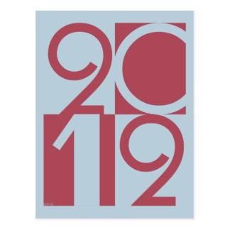 Numbers of 2012 postcard