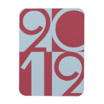 Numbers of 2012 rectangular magnets