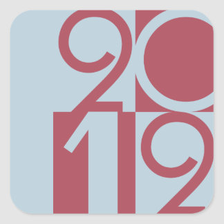 Numbers of 2012 square sticker