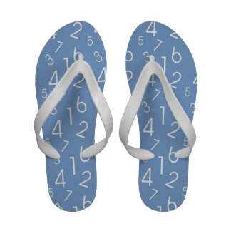 Numbers Pattern Sandals