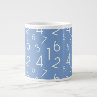 Numbers Pattern Giant Coffee Mug