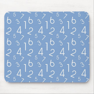Numbers Pattern Mouse Pad