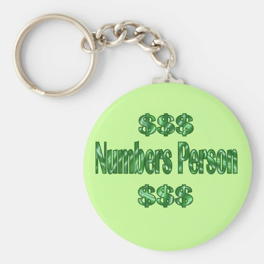 Numbers Person Keychain